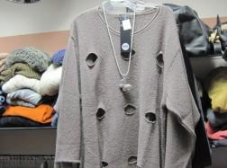 Pullover im Zipfellook